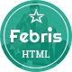 Febris | Porfolio, Corporate One Page HTML Template - ThemeForest Item for Sale
