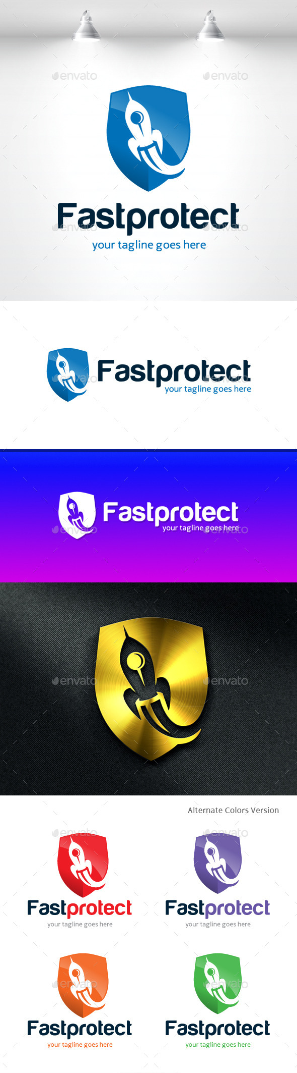 GraphicRiver Fast Protect Logo 11406209