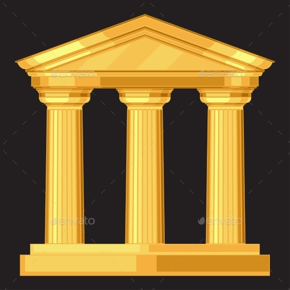 GraphicRiver Doric Realistic Antique Greek Temple With Columns 11406304
