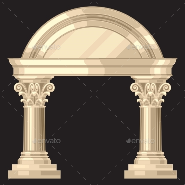 GraphicRiver Corinthian Realistic Antique Greek Temple 11406306