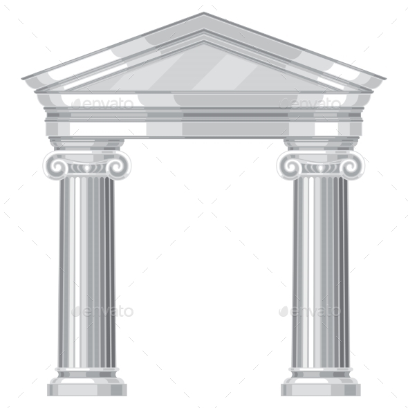 GraphicRiver Ionic Realistic Antique Greek Temple With Columns 11406308