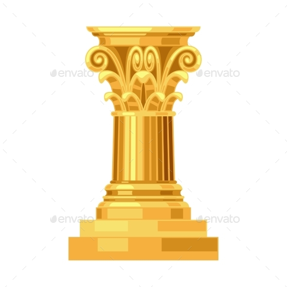 GraphicRiver Corinthian Realistic Antique Greek Gold Column 11406310