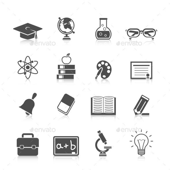 GraphicRiver Education Icon Set 11406486