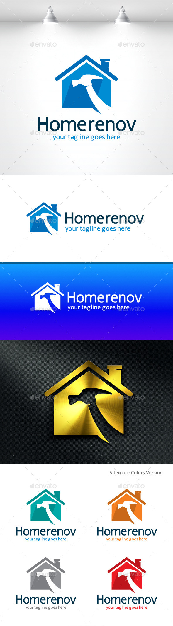 GraphicRiver Home Renovations Logo 11406577