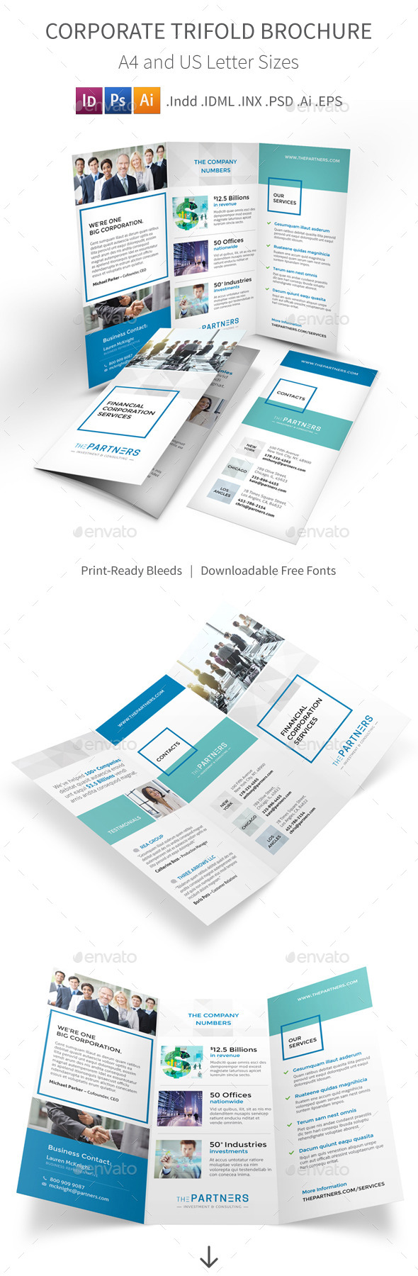GraphicRiver Corporate Trifold Brochure 11406670