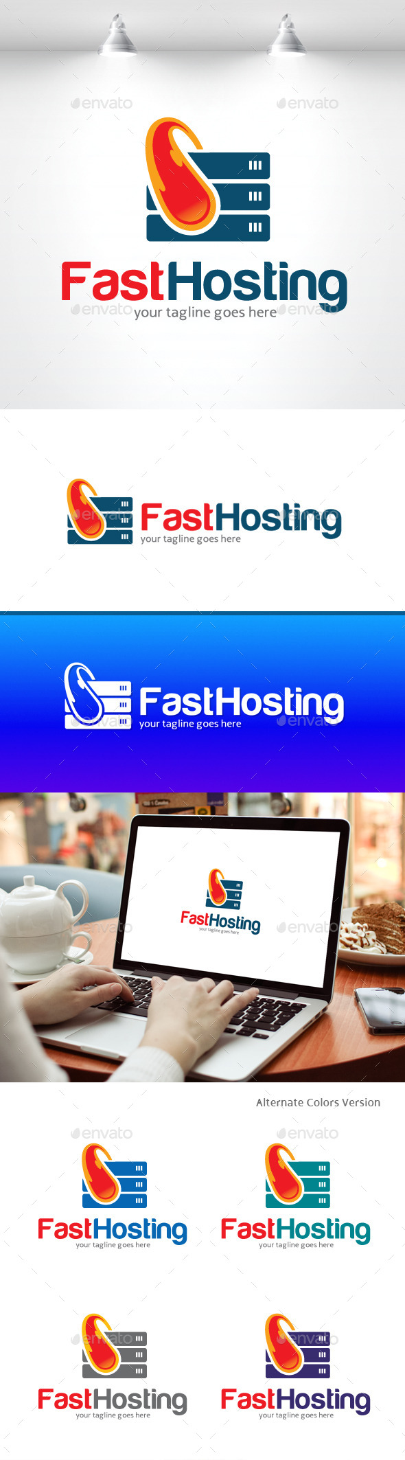 GraphicRiver Fast Hosting Logo 11406723
