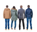 Back view group of people in jacket. - PhotoDune Item for Sale