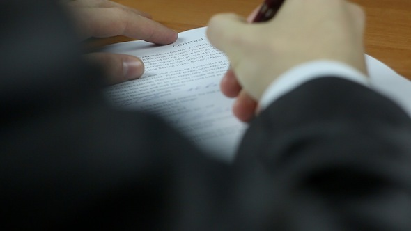 Businessman Signs A Contract 2