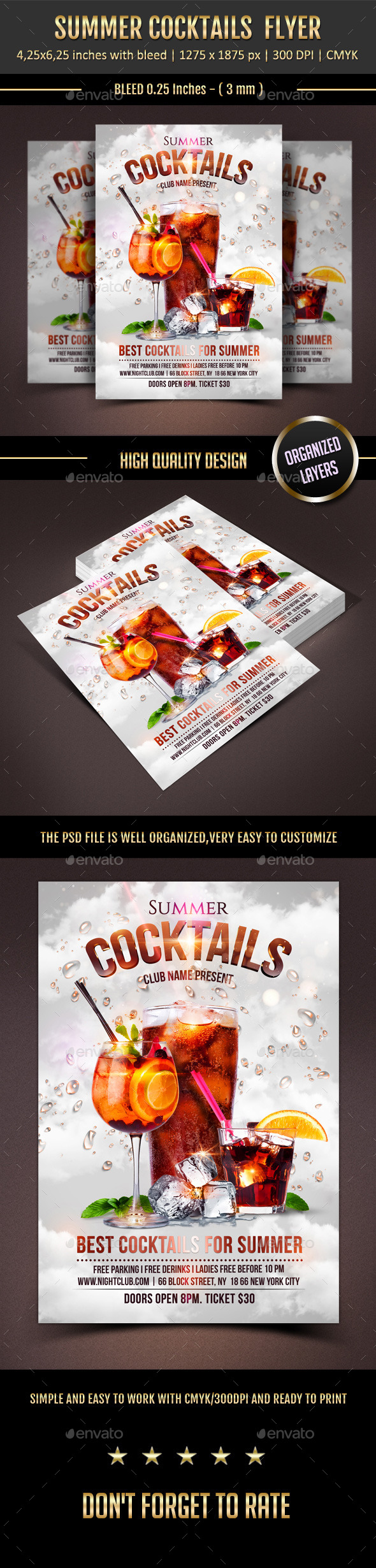 GraphicRiver Summer Cocktails 11407021