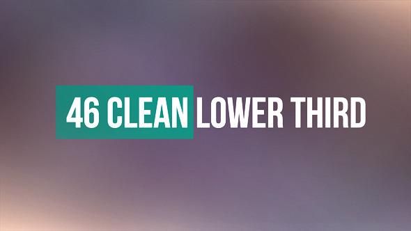 AE模板:46组简洁现代 人物介绍 扁平化风格 栏目包装字幕条模板46 Clean Lower Third