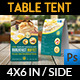 Cafe and Restaurant Table Tent Template Vol.5 - GraphicRiver Item for Sale