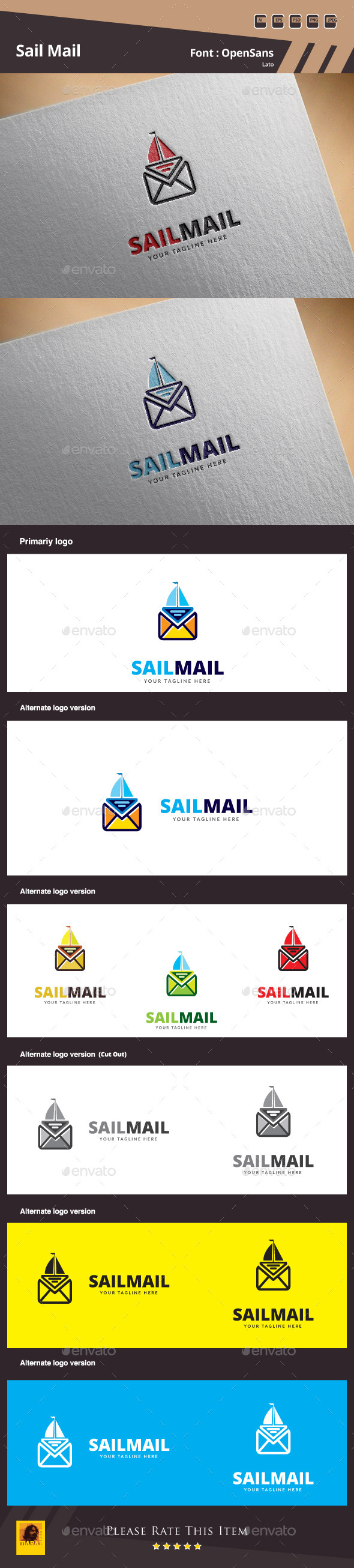 GraphicRiver Sail Mail Logo Template 11407411