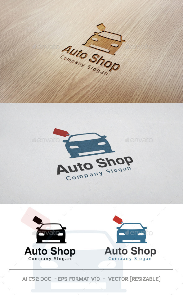 GraphicRiver Auto Shop Logo 11407603