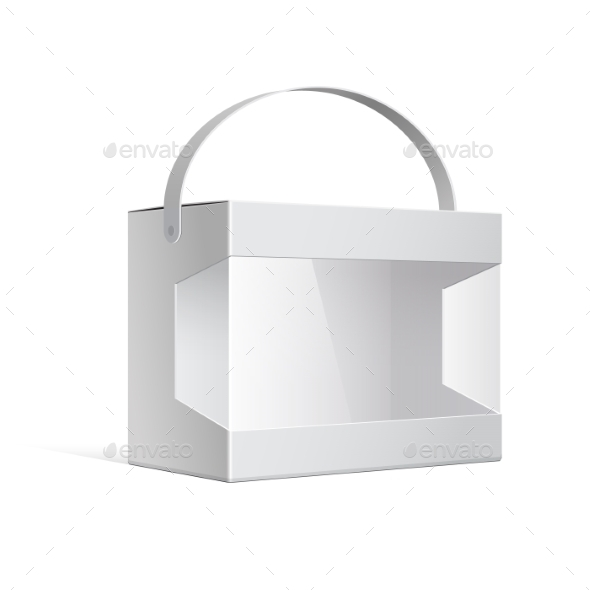 GraphicRiver Package Cardboard Box With a Handle 11407683