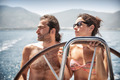 Beautiful couple on sailboat - PhotoDune Item for Sale
