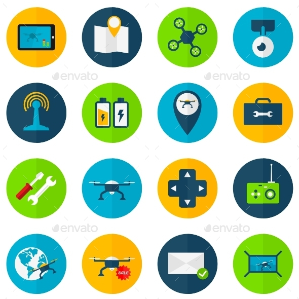 GraphicRiver Drone Icons 11407785