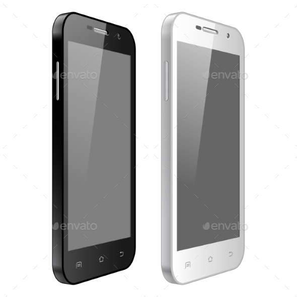 GraphicRiver Black And White Mobile Phone 11407790