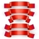 Realistic Red Glossy Vector Ribbons. - GraphicRiver Item for Sale