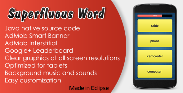 CodeCanyon Superfluous Word Game with AdMob and Leaderboard 11407859