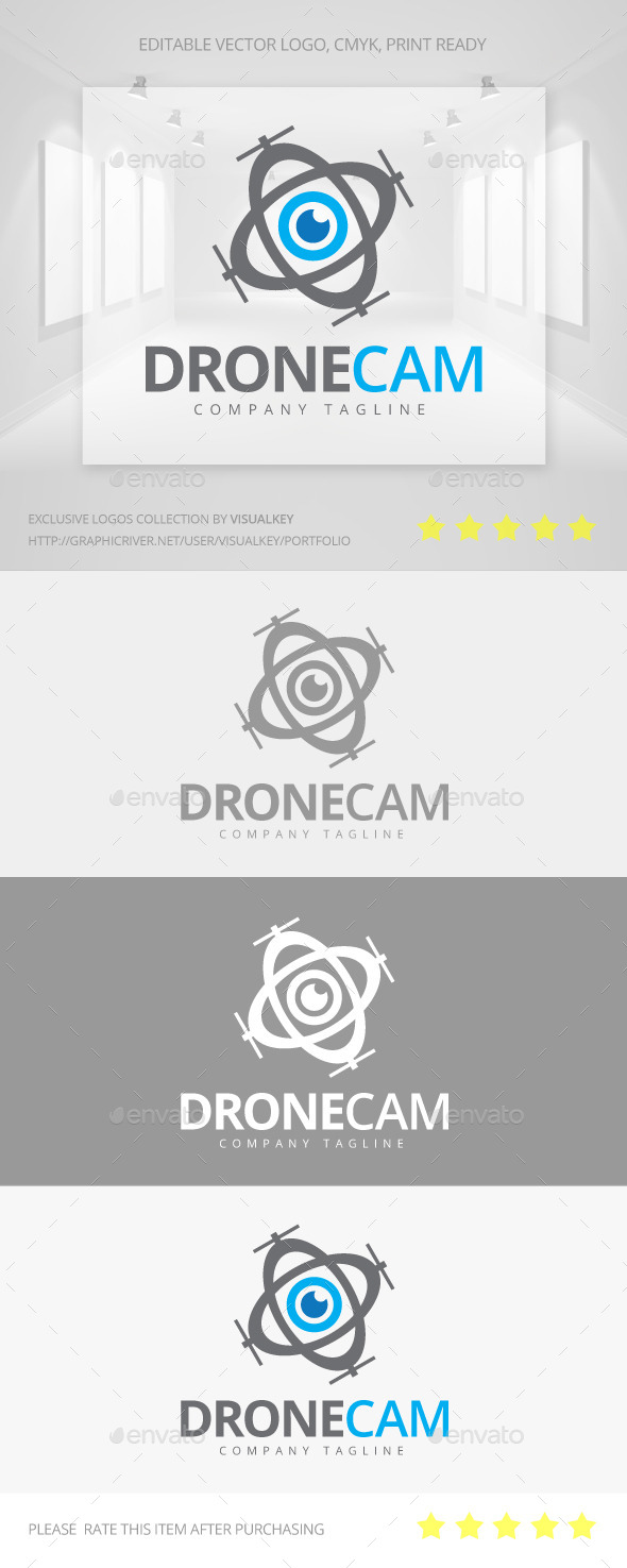 GraphicRiver Drone Camera Logo 11323190