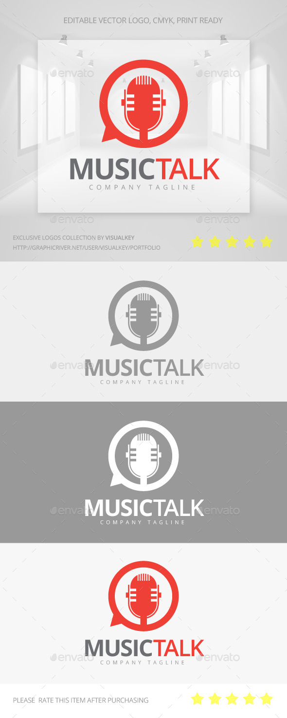 GraphicRiver Music Talk Logo 11353874