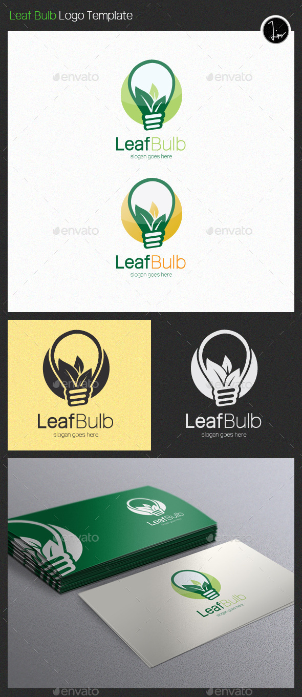 GraphicRiver Leaf Bulb Logo 11407930