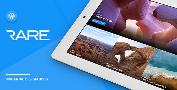 ThemeForest Rare Material Design WordPress Theme 11408042