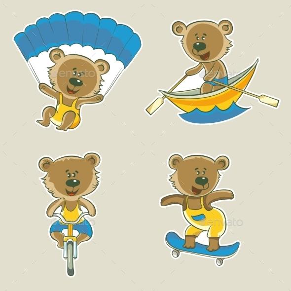 GraphicRiver Bear Athlete 11408048