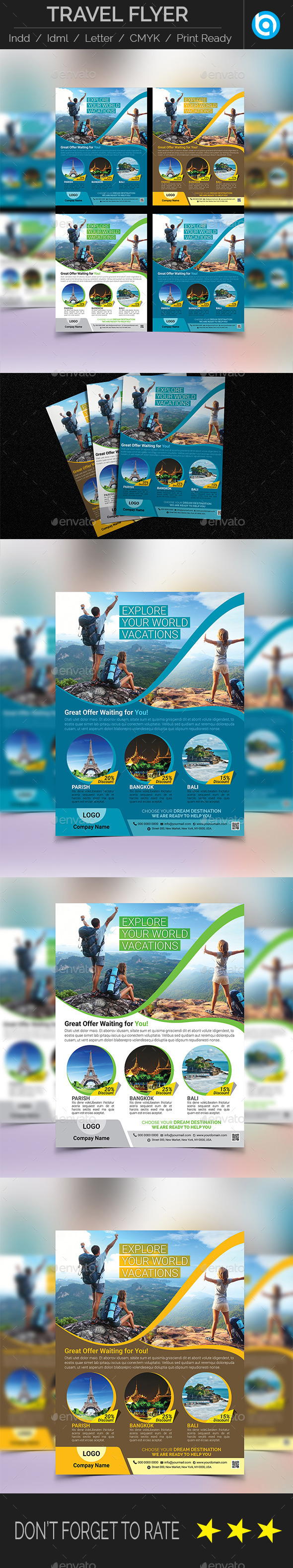 GraphicRiver Holiday Travel Tour Flyer Template 11274236