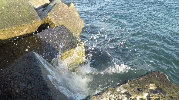 Surf at the Breakwater