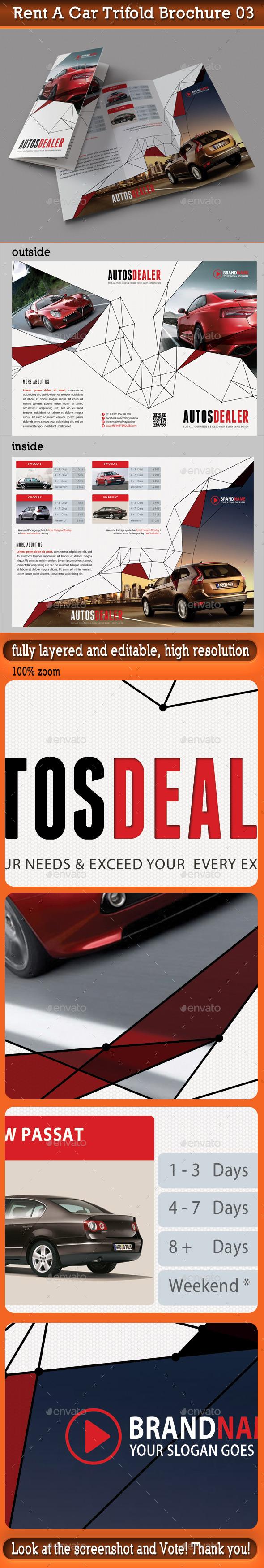 Rent A Car Trifold Brochure 03 - Corporate Brochures