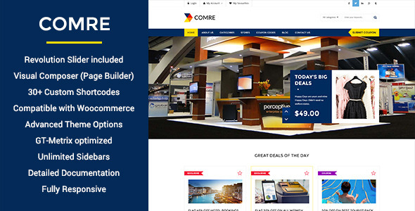 ThemeForest Comre Coupon Codes & Affiliates Wordpress Theme 11316657