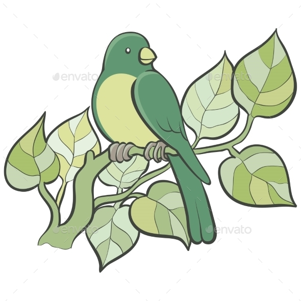 GraphicRiver Green Bird 11408509