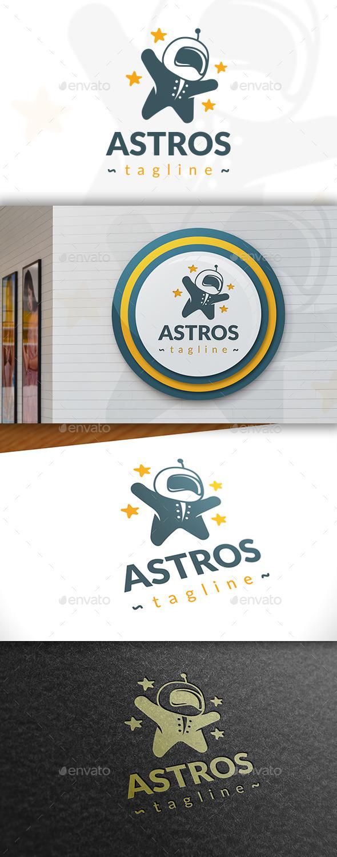 GraphicRiver Astronaut Logo Template 11408565