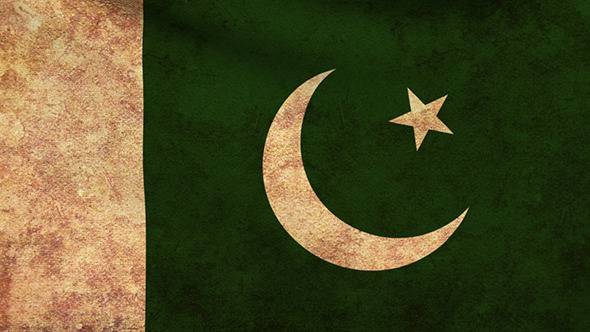 Pakistan Flag 2 Pack Grunge and Retro