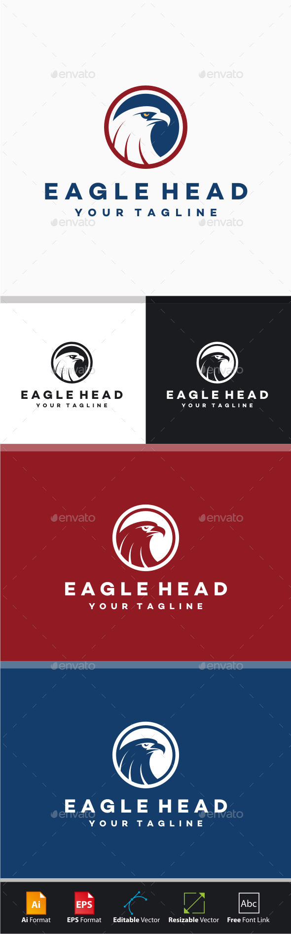 GraphicRiver Eagle Head Logo 8373859
