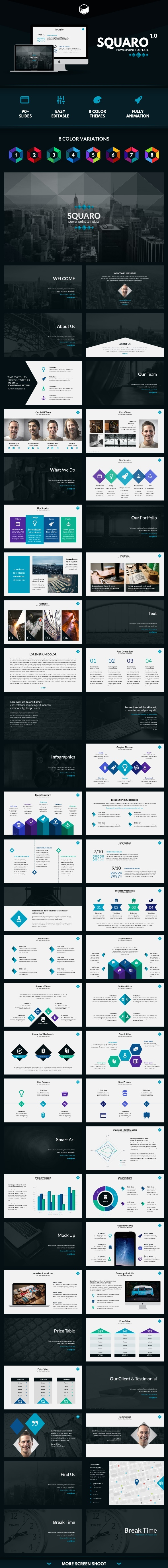 GraphicRiver Squaro PowerPoint Template 11408642