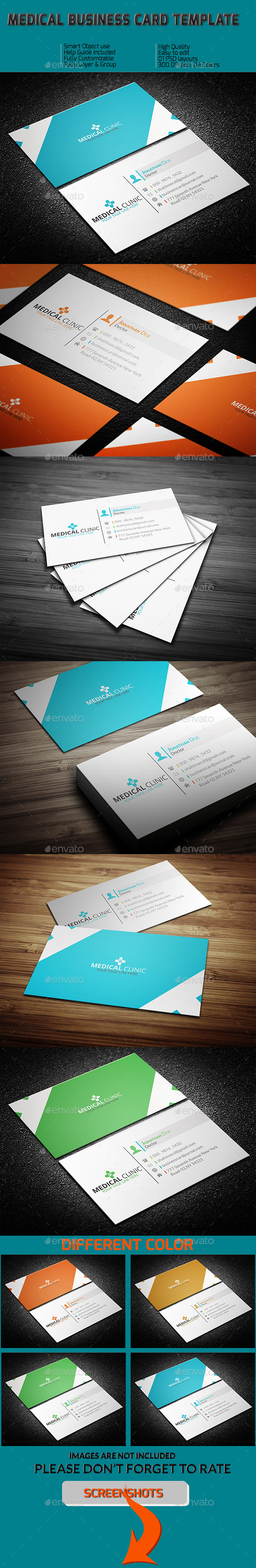 GraphicRiver Medical Business Card Template 11408648