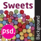 Sweets Isolated Background