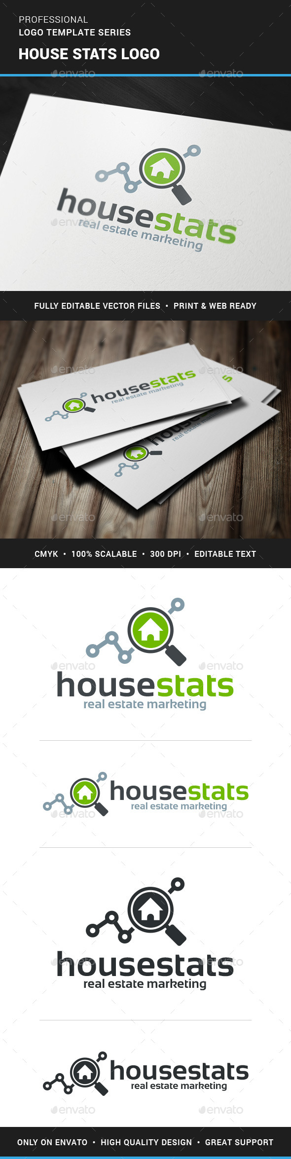 GraphicRiver House Stats Logo Template 11409037