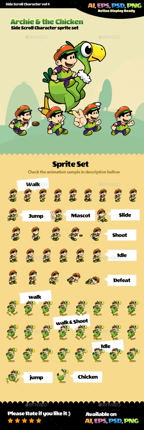 GraphicRiver Side Scroll Character Vol 04 11409195