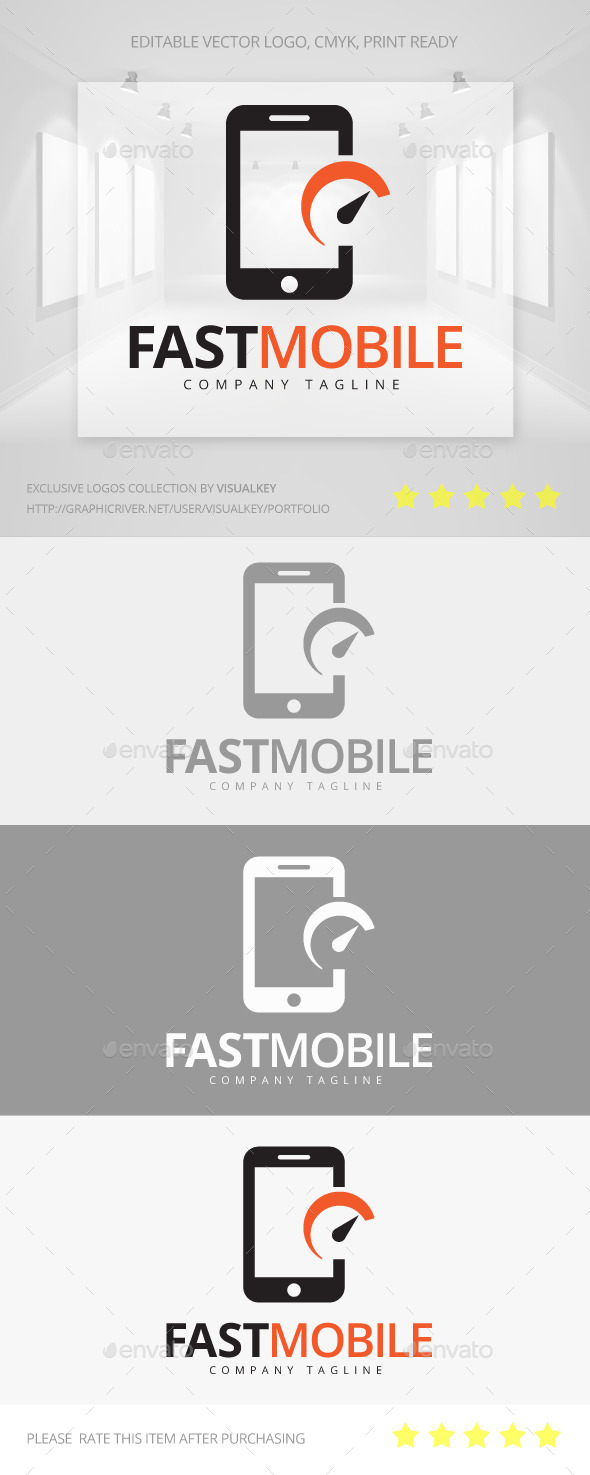 GraphicRiver Fast Mobile Logo 11367998