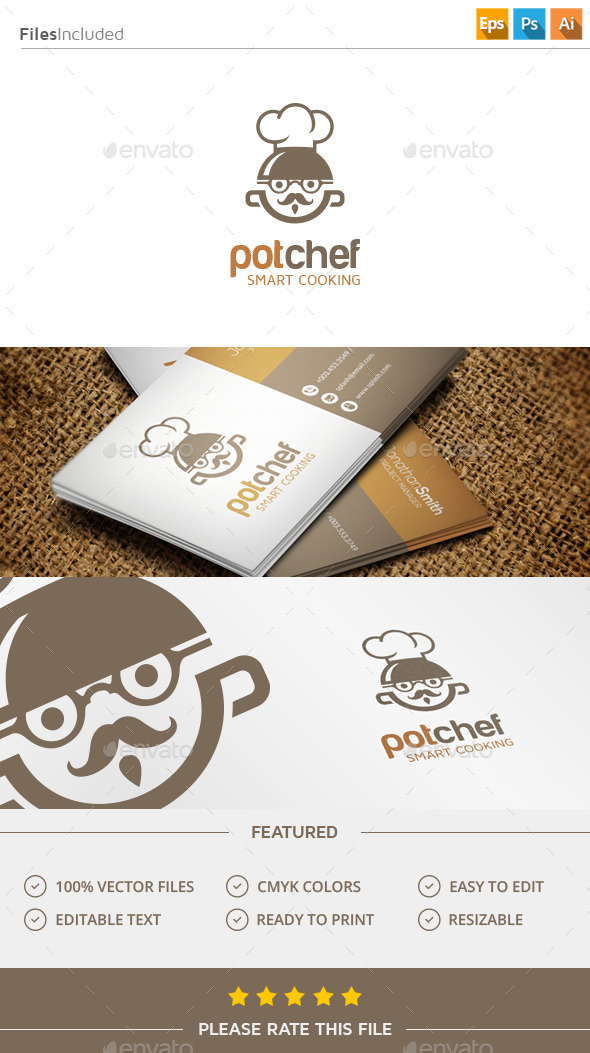 GraphicRiver Chef Logo 11404347