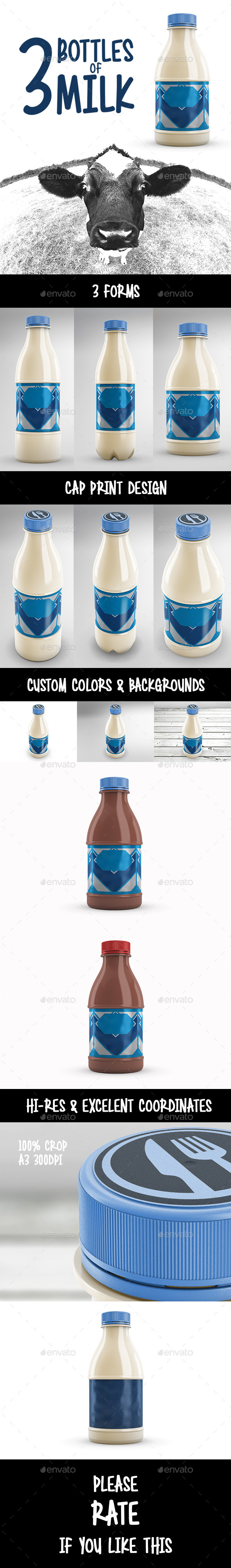 GraphicRiver Bottles of Milk 11409486