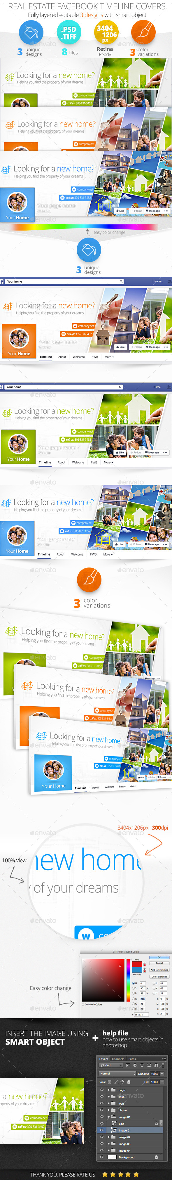 GraphicRiver Real Estate Facebook Cover 11409647