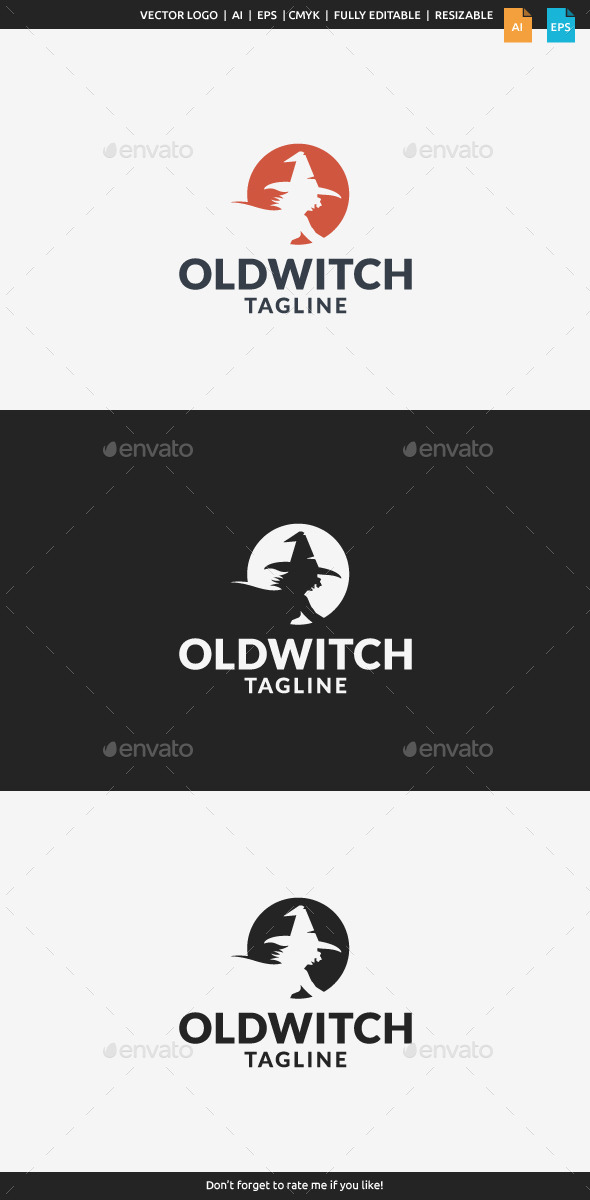 GraphicRiver Old Witch Logo 11409661