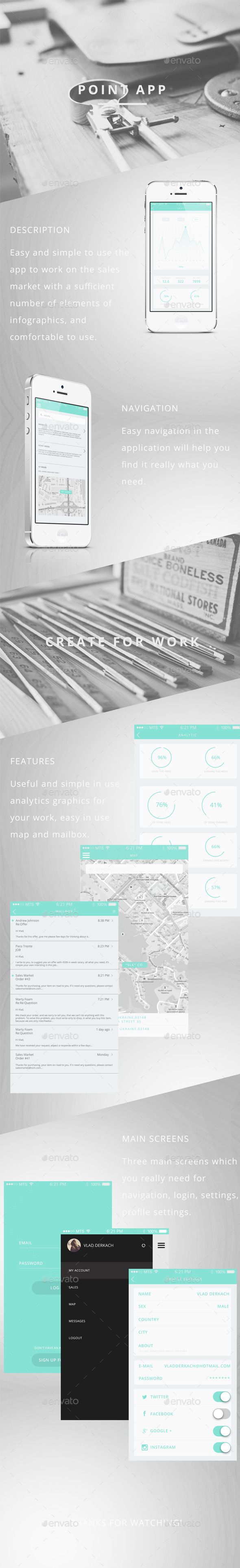 GraphicRiver Point App UI 11409708