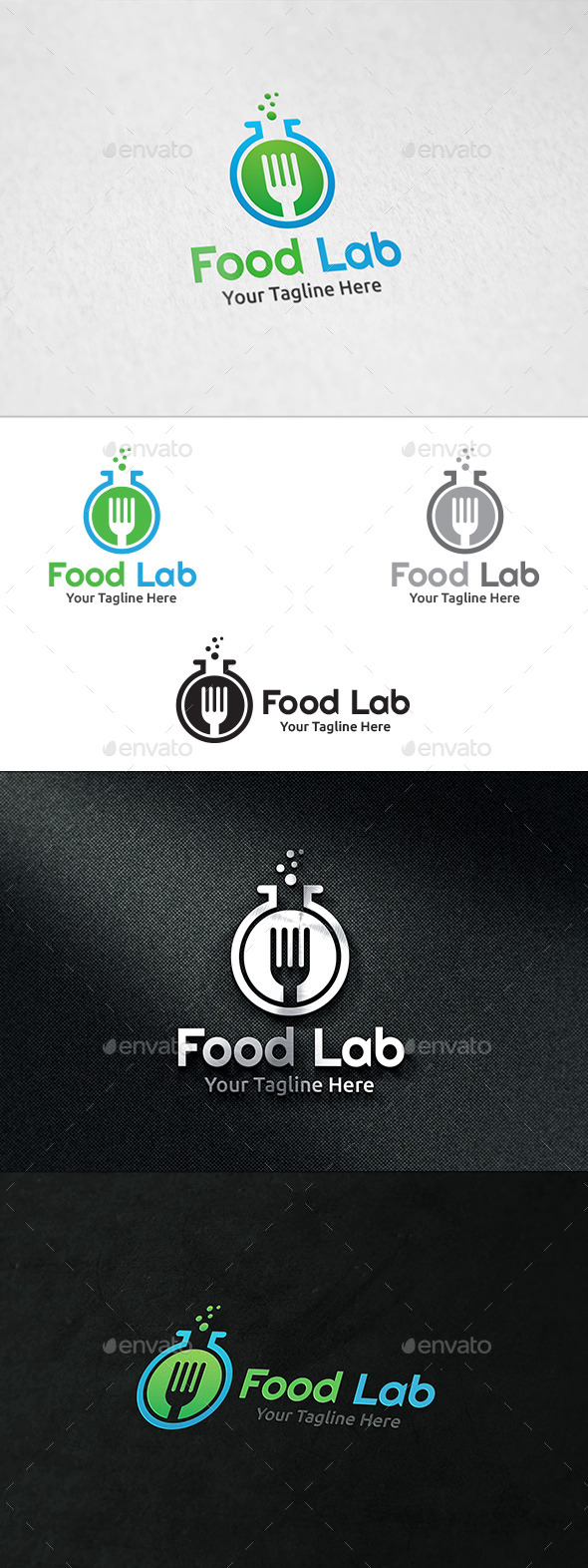 Food Lab - Logo Template