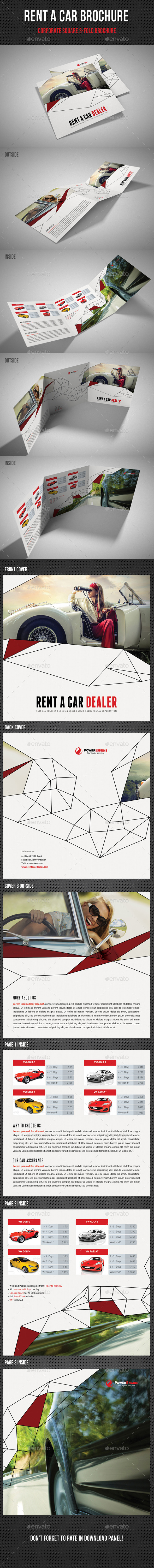 GraphicRiver Rent A Car Square 3-Fold Brochure 01 11409999
