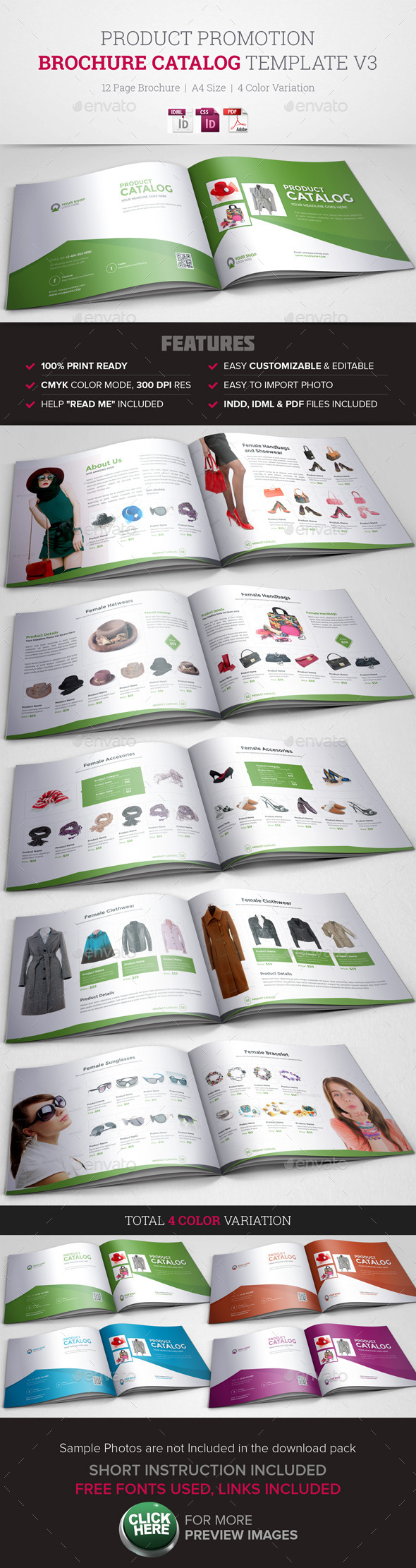 GraphicRiver Product Promotion Catalog InDesign Template v3 11410095